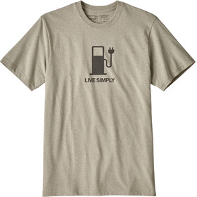 Patagonia Live Simply Power t-shirt Heren beige